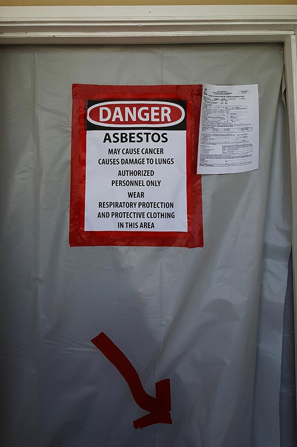 Asbestos Sign in Palm Beach, FL
